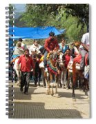 People On Horseback And On Foot Making The Climb To The Vaishno Devi Shrine In India Spiral Notebook