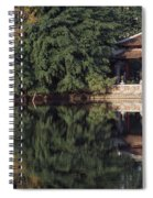 People Resting Under Pagoda On Hoan Spiral Notebook