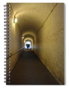 People Starting To Walk Down A Tunnel In Dover Castle Spiral Notebook