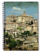 Perched Village Of Gordes Spiral Notebook