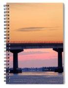Perdido Bridge Sunrise Closeup Spiral Notebook