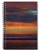 Perdido Pass Red Sunrise Spiral Notebook