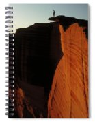 Person Standing Atop The Kings Canyon Spiral Notebook