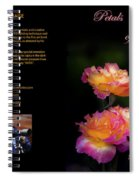 Petals Of Praise Books By Randall Branham Spiral Notebook