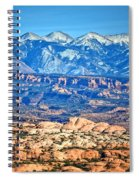 Petrified Dunes And La Sal Mountains Spiral Notebook
