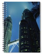 Petronas, Twin Towers At Night, Low Spiral Notebook