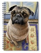 Hungry Pug Spiral Notebook