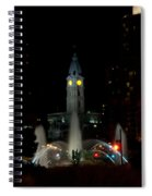 Philadelphia City Hall And Swann Fountain At Night Spiral Notebook
