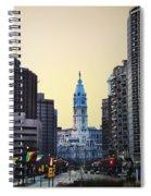 Philadelphia Cityhall At Dawn Spiral Notebook