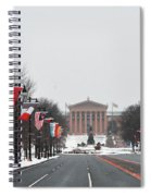 Philadelphia Parkway In The Snow Spiral Notebook
