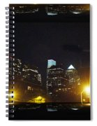 Philadelphia Skyline At Night - Mirror Box Spiral Notebook
