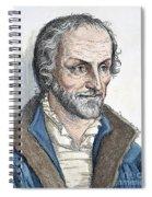 Philipp Melanchthon (1497-1560). German Scholar And Religious Reformer: Line Engraving, German, 19th Century Spiral Notebook