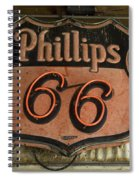 Phillips 66 Vintage Sign Spiral Notebook