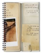 Photo Of Crucifix With Bible Verses. Spiral Notebook