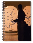 Photographers In Silhouette At A Heritage Building In Rajasthan In India Spiral Notebook