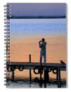 Photographing The Sunset Spiral Notebook