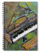 Piano Aqua Wall - Cropped Spiral Notebook