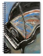 Piano With Spiky Heel Spiral Notebook
