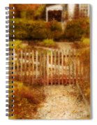 Picket Fence And Cottage Spiral Notebook