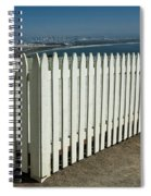 Picket Fence By The Cabrillo National Monument Lighthouse In San Diego Spiral Notebook