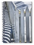 Picket Fence In Winter Spiral Notebook