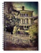 Picket Gate To Large House Spiral Notebook
