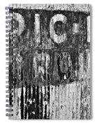 Picnic Ground Monochrome Spiral Notebook