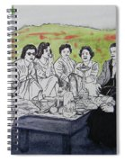 Picnic In The Mountains Spiral Notebook