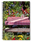 Picnic Table Among The Flowers Spiral Notebook