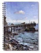 Pier Along Rocky Shore Spiral Notebook
