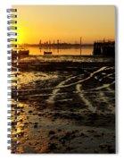 Pier At Sunset Spiral Notebook