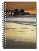 Pier At Sunset Spiral Notebook