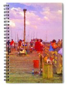 Pier Fishing Spiral Notebook