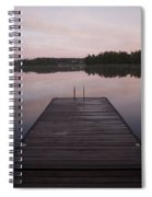 Pier, Lake Of The Woods, Ontario, Canada Spiral Notebook