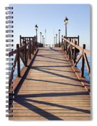 Pier On Costa Del Sol In Marbella Spiral Notebook