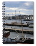 Piers Of Oslo Harbor Spiral Notebook