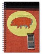 Pig On A Wall Spiral Notebook