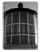 Pigeon Point Lighthouse Beacon - Black And White Spiral Notebook