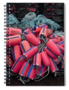 Pile Of Pink And Blue Buoys Spiral Notebook