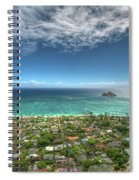 Pillbox View Of Mokulas Spiral Notebook
