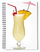 Pina Colada Cocktail Spiral Notebook