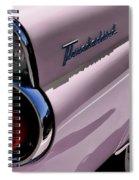 Pink 1955 T-bird Spiral Notebook