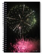 Pink And Green Delight Spiral Notebook