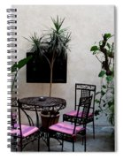 Pink And Purple Patio Spiral Notebook