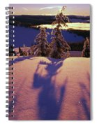 Pink And Purple Sunrise Shadows Of Snow Spiral Notebook