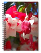 Pink And Red Fuchsia Spiral Notebook