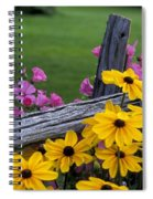Pink And Yellow Flowers Spiral Notebook