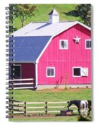Pink Barn In The Summer Spiral Notebook