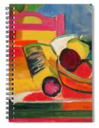 Pink Chair And Pink Plum Spiral Notebook