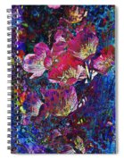 Pink Floral Abstract Spiral Notebook
